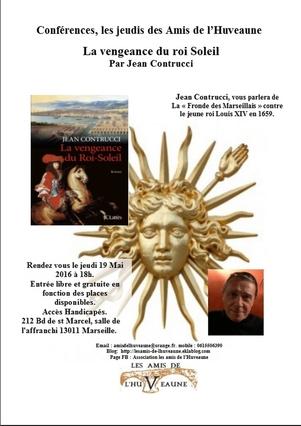 """Conférence """"La vengeance du Roi Soleil"""" de Jean Contrucci"""