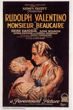MONSIEUR BEAUCAIRE BOX OFFICE 1924