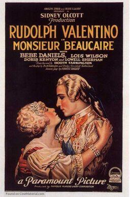 MONSIEUR BEAUCAIRE BOX OFFICE 1924