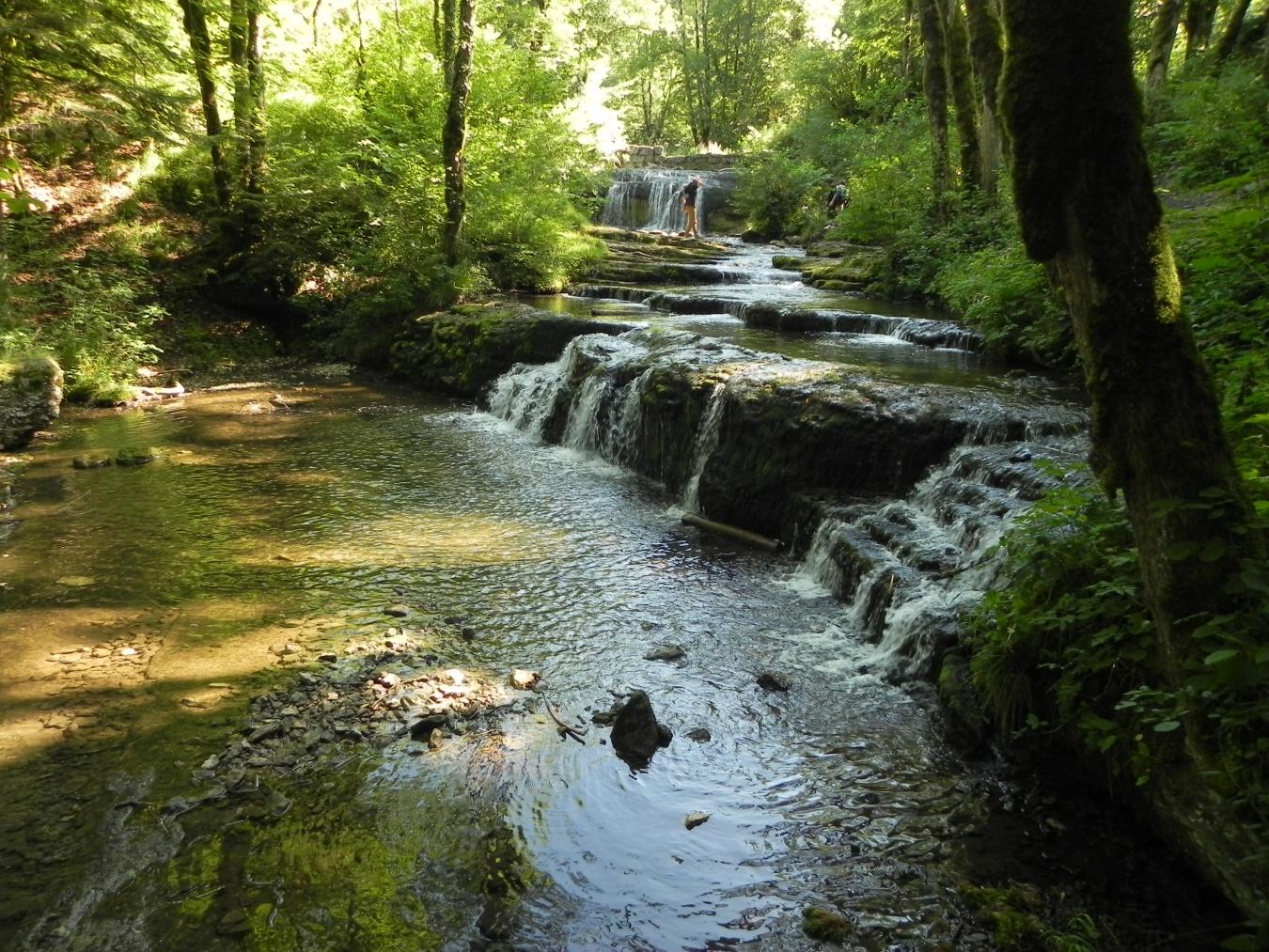 La rivière du Hérisson  dans le Jura