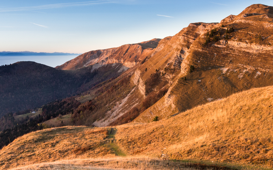 Les falaises du Jura