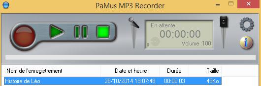 PaMus MP3 Recorder : un magnétophone pour votre ordinateur