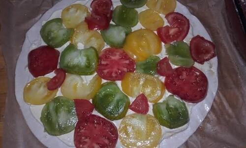 Tarte à la tomate multicolore {Vegan}