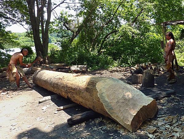 Plimoth plantation indiens barque