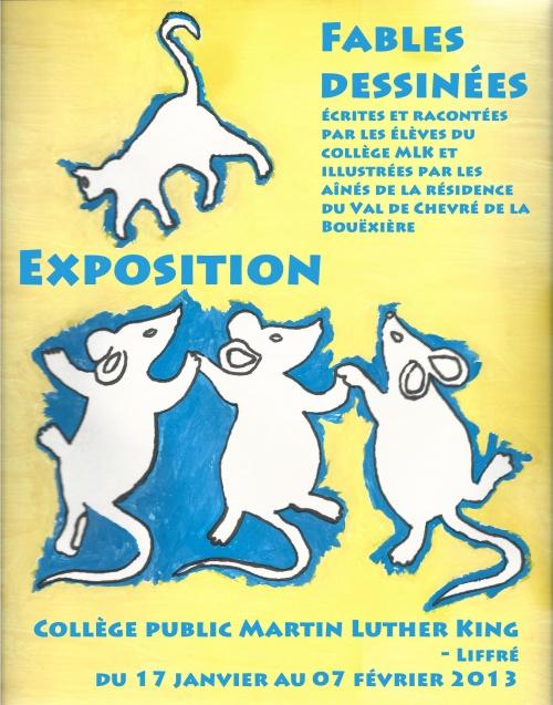 *Exposition Fables dessinées janvier 2013