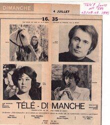 04 juillet 1971 / TELE DIMANCHE