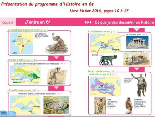 Introduction : Présentation du programme de 6ème