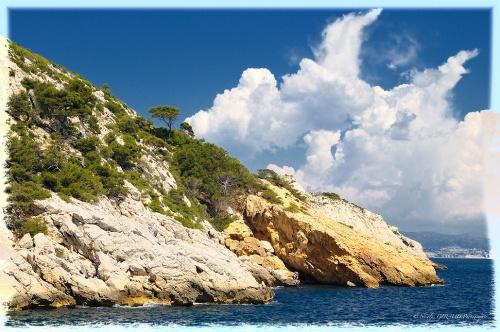 La côte Bleue en méditerranée...