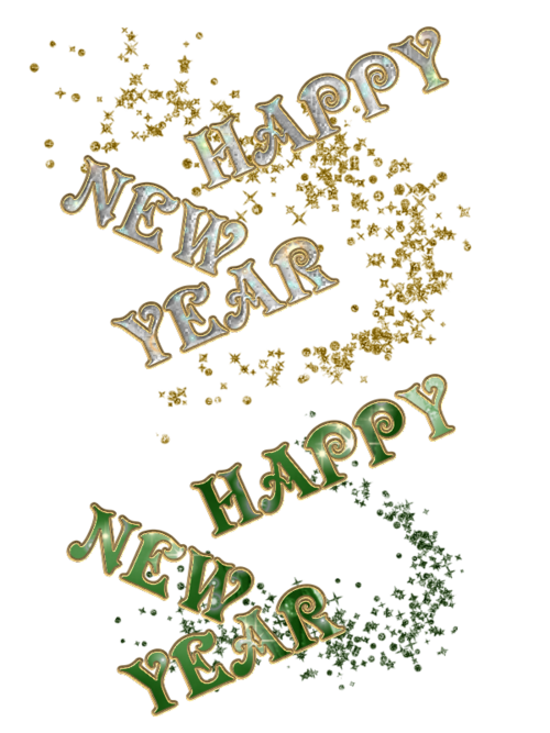 Texte en png Bonne année