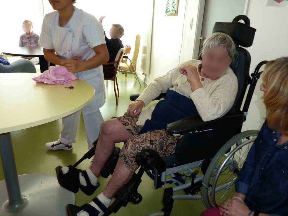 Visite à l'hôpital de Barbezieux, mars.