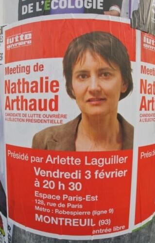 affiche présidentielles 2012 Arthaud 3