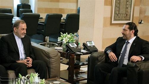 Ali-Akbar Velayati (G) et Saad Hariri (D), le 3 novembre à Beyrouth. ©IRNA