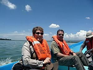 Nous barque Lac Naivasha