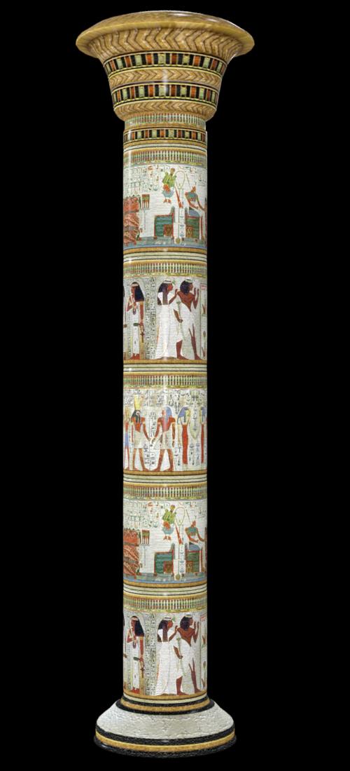 Tube pilastre Egypte antique (render-image)