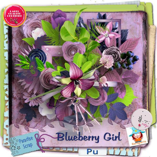 Blueberry girl une collaboration de Kastagnette et de Natys
