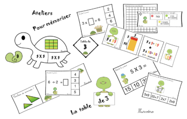 math - ateliers table de 3