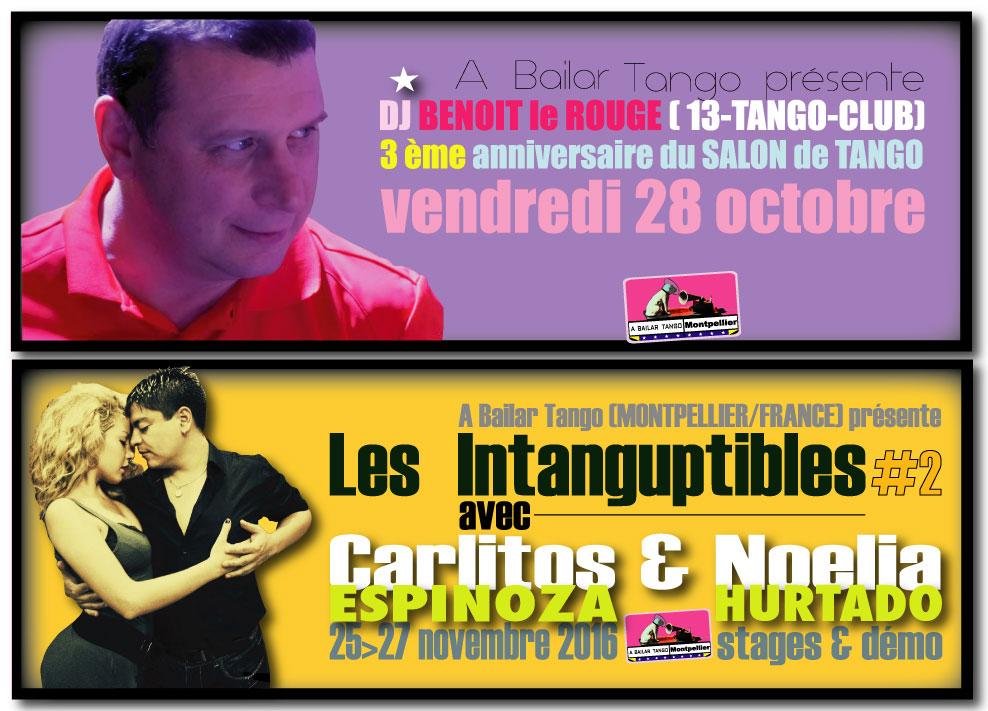 ★ 3ème anniversaire du Salon de Tango, vendr 28 oct. avec DJ Benoit le Rouge / El 13 ★