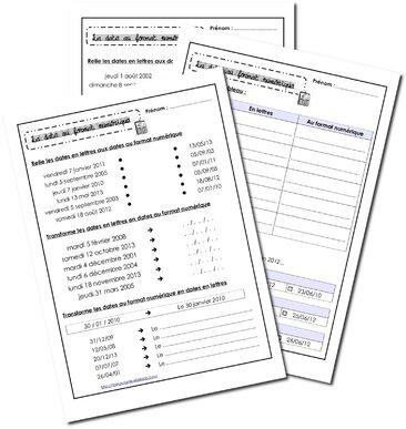 Dates au format numérique