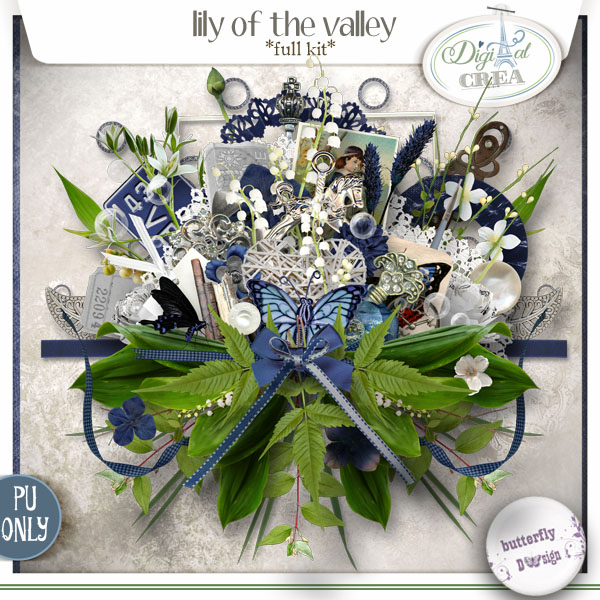 Lily of the Valey de Butterfly Design