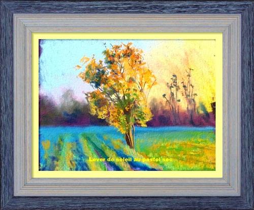 Dessin et peinture - vidéo 3023 - Comment réaliser un lever de soleil in situ ? - Pastel sec.