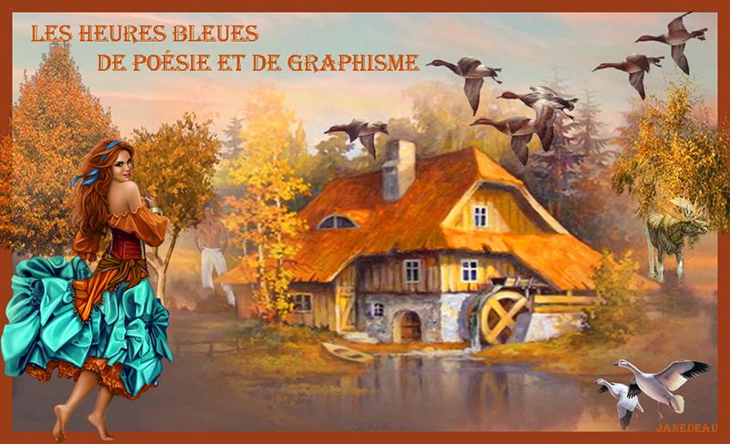 Les heureus bleues de poésie de de graphisme