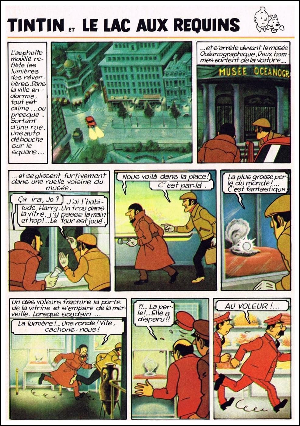Tintin et le lac aux requins version couleurs 44 for Hillen interieur