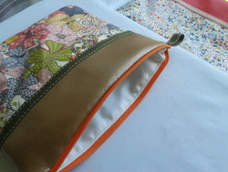 Pochette liberty mauvey orange, simili or cuivré 3