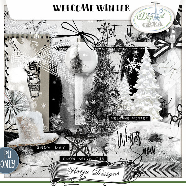 Welcome Winter { Kit PU } by Florju Designs