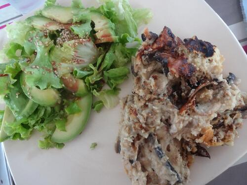 Brouillade au tofu soyeux et champignons [Vegan]