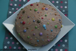 GATEAU SURPRISE COEUR DE SMARTIES