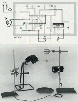 Placement des pièces sur le PCB et setup de prise de vue