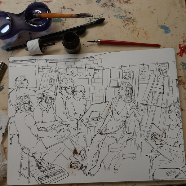 Dimanche - Scène d'atelier : Myriam