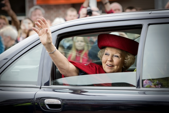 Beatrix en chapeau inaugure!