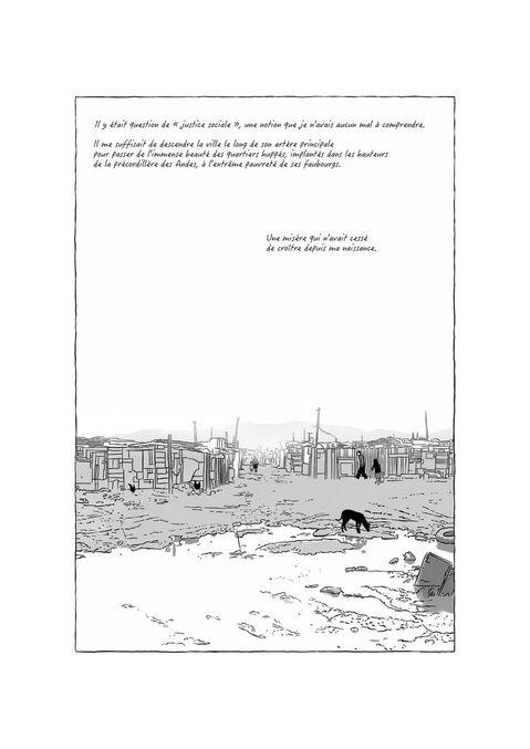 """Planche de l'album """"Là où se termine la terre"""" aux éditions Steinkis"""