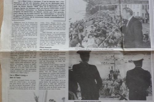 Lancement et baptême du Marie-Lizig en 1988 ! et le pont doublé sur l'Elorn mon pays