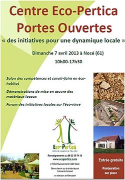 « Eco-Pertica » -  Portes ouvertes dimanche 7 avril