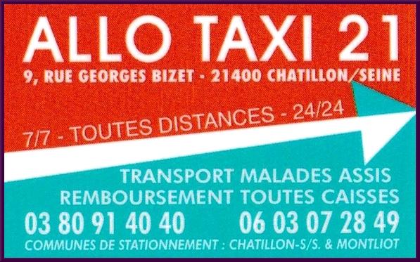 Allo Taxi 21 une entreprise de transport très performante....