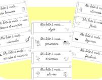 Vocabulaire: tri et classement