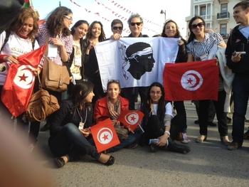 Marche d'ouverture FSM Tunis 2013