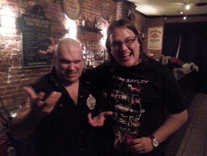 Blaze Bayley and me after his concert around 1:15 p.m.