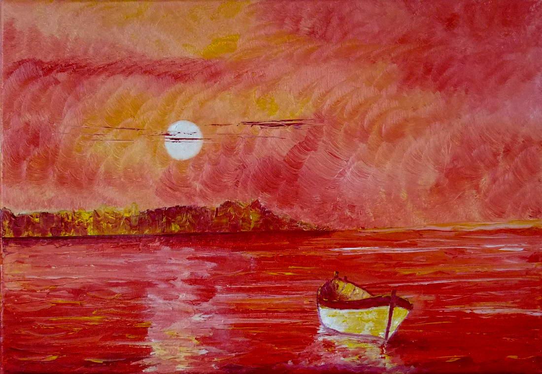 tableau coucher soleil