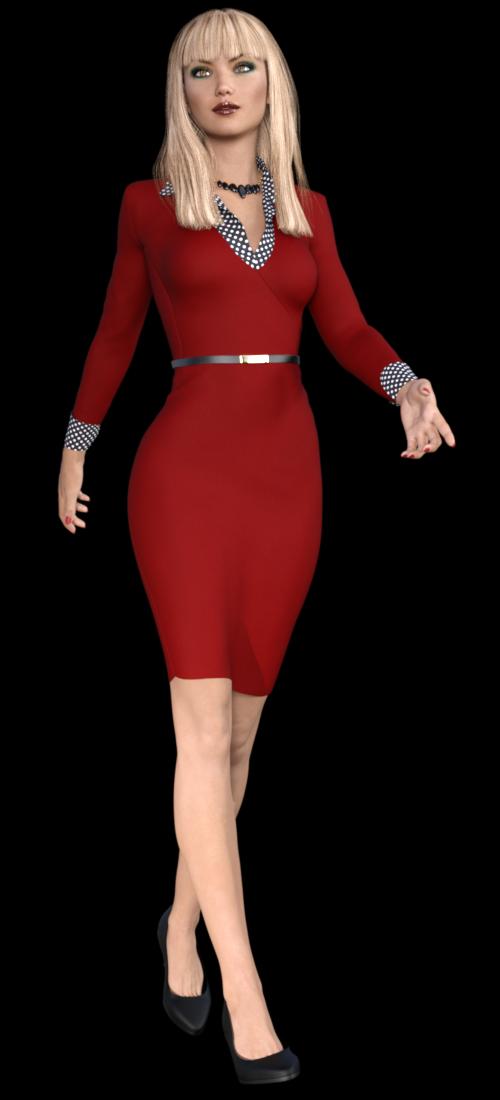 Tube de femme en robe (image-render)