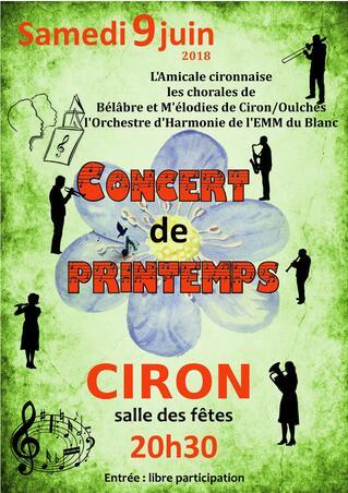 A venir Concert de l'harmonie à Ciron
