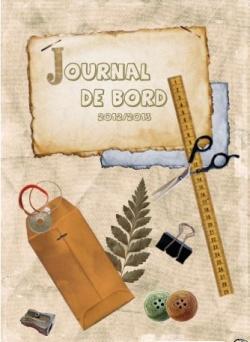 cahier journal présentation page garde école