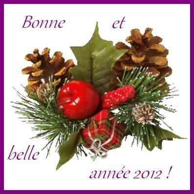 bonne annee 2012 A