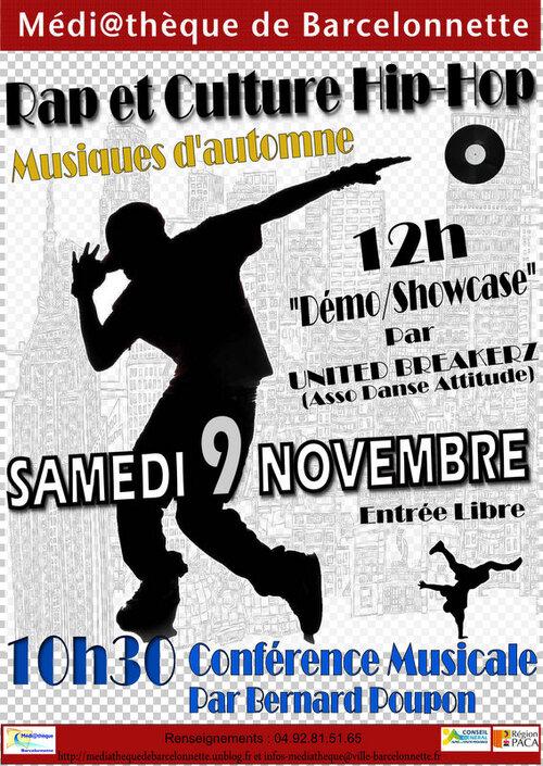 9 Novembre, rencontres Rap et culture Hip Hop