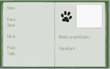 Carte d'identité pour animaux