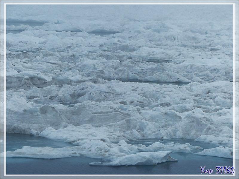 Toute la matinée s'est passée à naviguer, dans une brume tenace, au contact d'une banquise plus ou moins compacte, à la recherche de morses - Mer des Tchouktches - Alaska