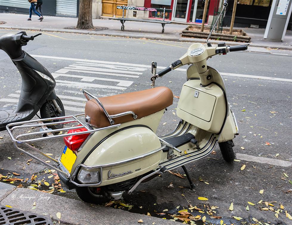 Retour du scooter