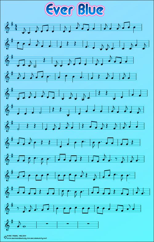 les partitions des chansons